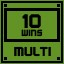 Multi 10 Wins in Clickr