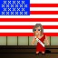 Miss USA in Fist Puncher