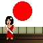 Miss Japan in Fist Puncher