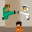 Jump Kicker in Fist Puncher