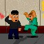 Dr. Karate Kick Master in Fist Puncher