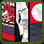 Light Three in Koi-Koi Japan Hanafuda playing cards