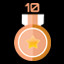 Get 10 bronze medals in Neon Space 2
