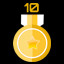 Get 10 gold medals in Neon Space 2