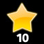 Collect 10 stars in Fly and Destroy