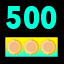 Get a total of 500 score in Spin Rush
