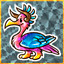 Wild Unknown Bird in Sticker Craft