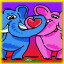 Elephants Complete! in Pixel Puzzles Junior
