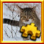 Snow Cat Complete! in Pixel Puzzles Ultimate